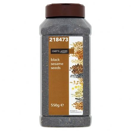 Chef's Larder Black Sesame Seeds 550g, Re-sealable Tub